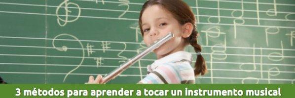 Educación 3 Métodos para aprender a tocar un instrumento musical.