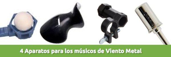 Viento-Metal 4 aparatos para músicos de viento metal