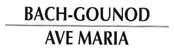 Acompañamientos Ave María de Gounod