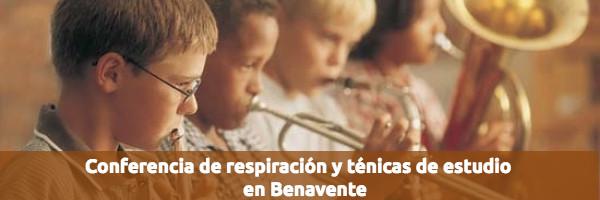 Eventos Conferencia de respiración y técnicas de estudio en Benavente
