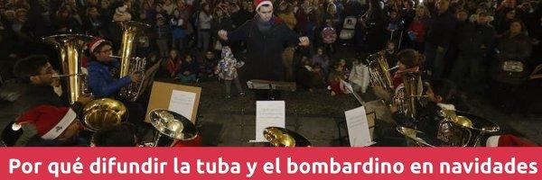 Tuba y bombardino Por qué difundir la tuba y el bombardino en Navidades