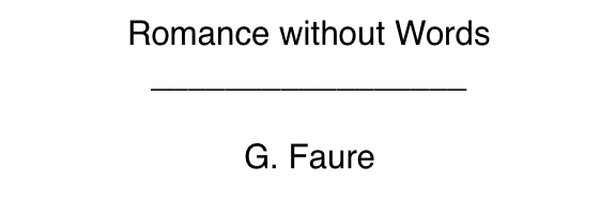 Accompaniments Romance without words - Faure