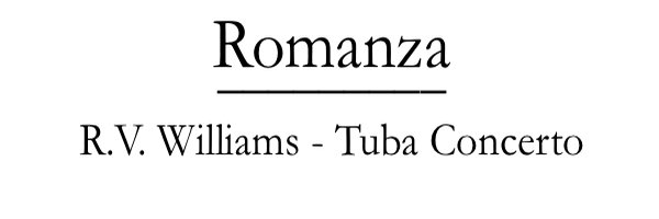 Accompaniments Romanza R. V. Williams Tuba Concerto