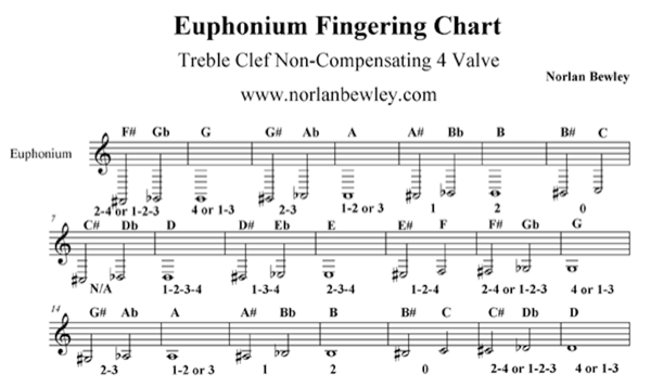 In The Next Post I M Going To Speak About Diffe Tuba And Euphonium Charts